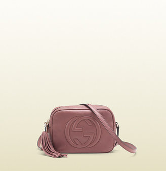 Gucci Soho Dark Pink Leather Disco Bag