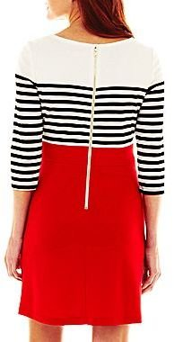 JCPenney 3/4-Sleeve Print Dress