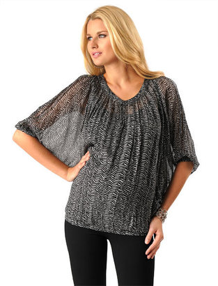 A Pea in the Pod Lavish by Heidi Klum Long Sleeve Dolman Sleeve Maternity Blouse