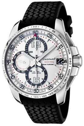 Chopard Men's Mille Milgia Gran Turismo XL Automatic Chronograph Ivory Dial Black Rubber XL 168459-3015 Watch
