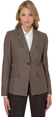 Brooks Brothers Wool One-Button Plaid Slim Fit Jacket