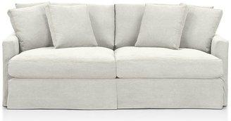 "Crate & Barrel Lounge 83"" Slipcovered Sofa"