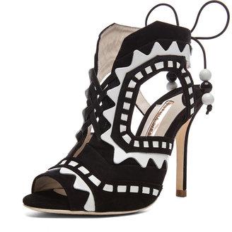 Webster Sophia Riko 3 Suede Heels in Black & White