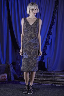 Marc Jacobs Lily Cotton Taffeta V-Neck Dress