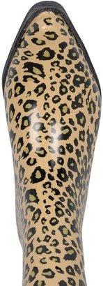 Journee Collection leopard cowboy rain boots - women