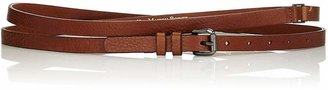 MAISON BOINET Women's Double-Wrap Leather Belt