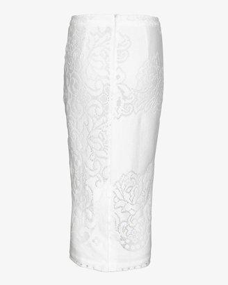 A.L.C. Lucas Lace Pencil Skirt: White