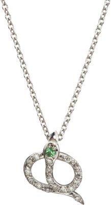 Ileana Makri Diamond & Tsavorite Little Snake Pendant Necklace