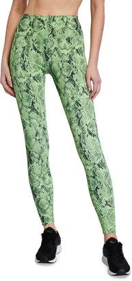 Alo Yoga High-Waist Vapor Snakeskin Leggings