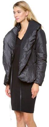 Donna Karan Shawl Collar Down Jacket