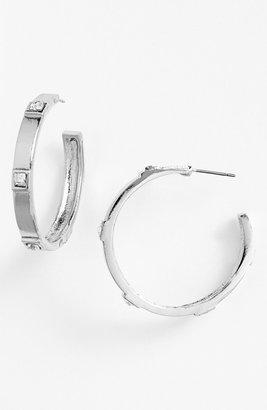 Sequin Flat Cut Hoop Earrings