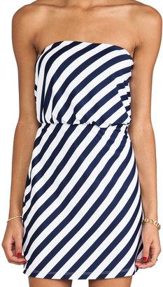 "Susana Monaco Stripe Supplex Marie 18"" Strapless Dress"