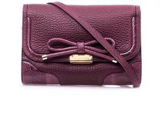 Burberry Abbott bow leather shoulder bag