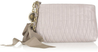 Lanvin Happy quilted leather clutch