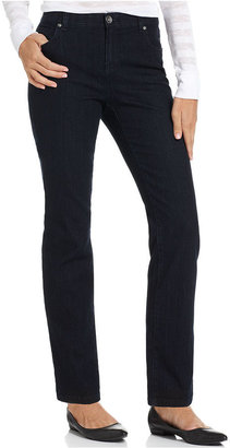 Style&Co. Petite Jeans, Comfort-Waist Straight-Leg, Rinse Wash