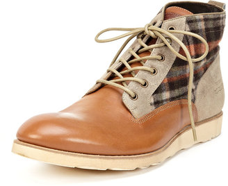 Paul Smith Leather and Check Boots