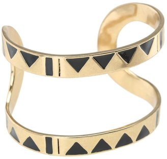 House Of Harlow Three Caves Cuff Bracelet (Gold Tone) - Jewelry