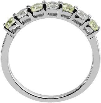 14k White Gold Peridot & 1/3-Ct. T.w. Round-Cut Diamond Ring