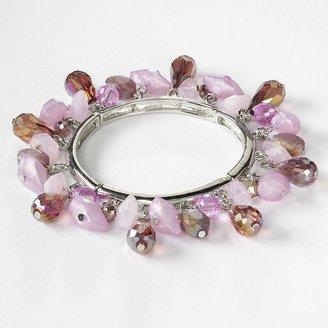 Vera Wang Simply vera tone bead stretch bracelet