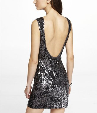 Express Low Back Sequin Dress