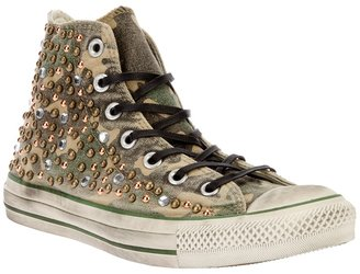 Converse Limited camouflage studded hi-top