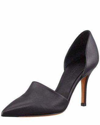 Vince Claire Two-Piece Leather Pump, Black $375 thestylecure.com