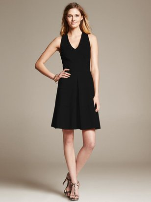 Banana Republic Ponte Cross-Back Fit-and-Flare Dress