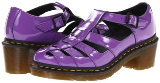 Dr. Martens Eleanor T-Bar (Bright Purple Patent Lamper) - Footwear