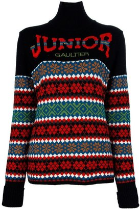 Jean Paul Gaultier Vintage intarsia logo sweater