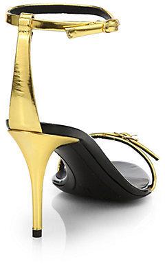 Giuseppe Zanotti Metallic Leather Thin-Strap Sandals