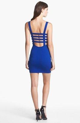 Soprano Cage Back Body-Con Dress (Juniors)