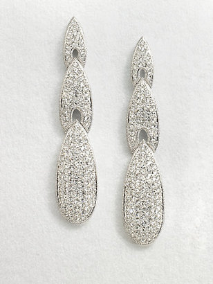 Adriana Orsini Crystal Encrusted Triple Arrow Drop Earrings