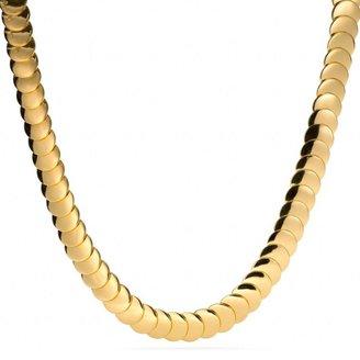 Coach Overlap Disc Necklace
