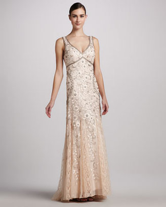 Sue Wong Sleeveless Beaded Gown