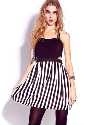 Forever 21 Bold Stripes Combo Dress