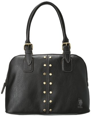 U.S. Polo Assn. Dalton Small Dome Satchel (Black) - Bags and Luggage