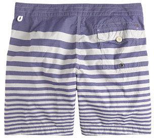 "J.Crew 7"" Board Shorts In Nautical Stripe"