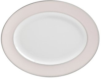 Monique Lhuillier Waterford Dentelle Blush Medium Oval Platter