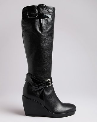 Anyi Lu Tall Wedge Boots - Blaire