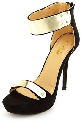 Charlotte Russe Metallic Ankle Cuff Platform Heel