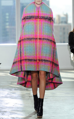 DELPOZO Quilted Cape Cut Coat