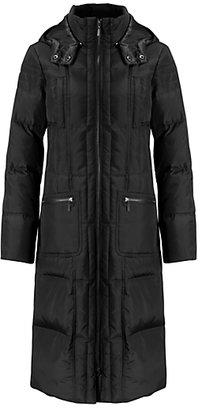 John Lewis Down Filled Long Padded Coat, Black