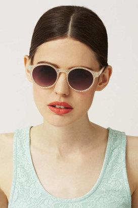 Topshop Diamante Round Sunglasses
