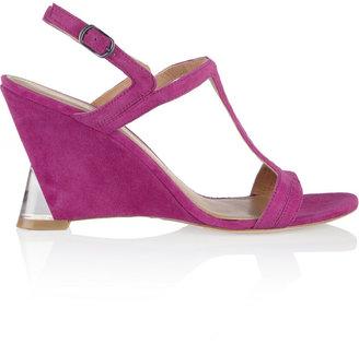 Sigerson Morrison Cutout suede wedge sandals