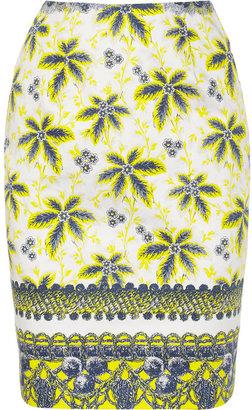 Prabal Gurung Printed cotton-blend pencil skirt