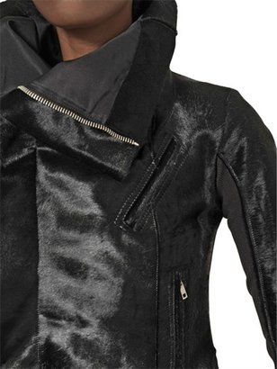 Rick Owens Ponyskin Biker Jacket