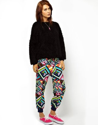 House of Holland Sweatpants in Patchwork Print - Multi