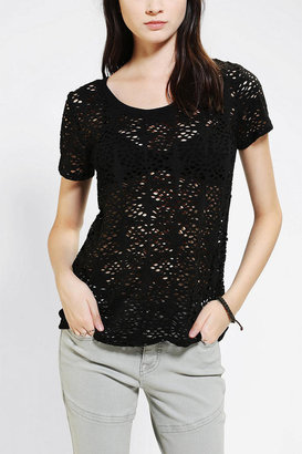 Urban Outfitters Lucca Couture Holey Lace Tee