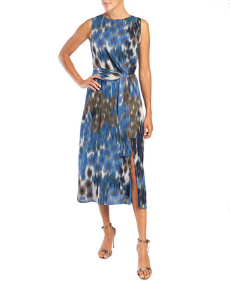 Santorelli Dorothy Sleeveless Double Georgette Midi Dress