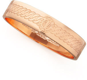 Marc by Marc Jacobs Engraved Turnlock Bangle, Rose Golden
